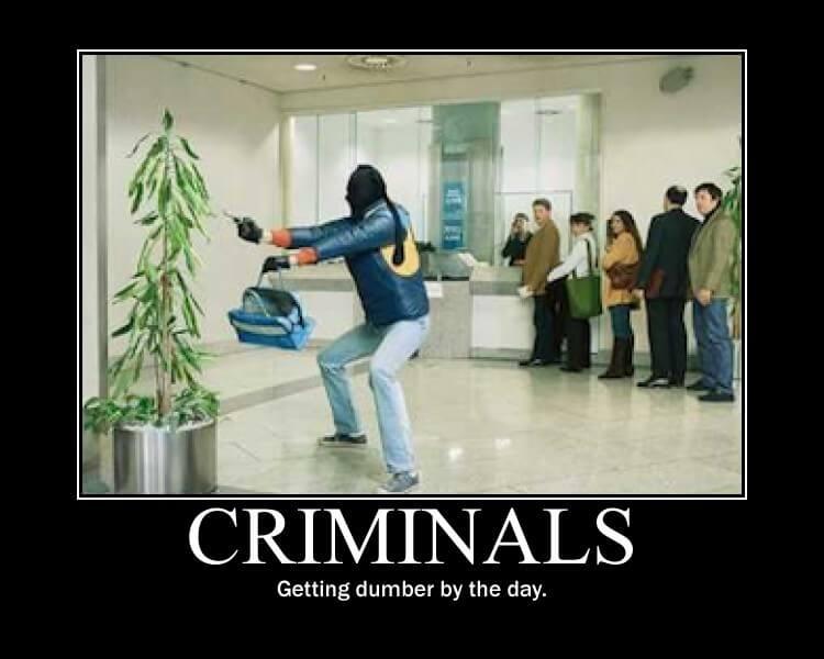 Emergency Roadside Service >> 3 Dumbest Criminals of All Time - ASAP Locksmith Blog